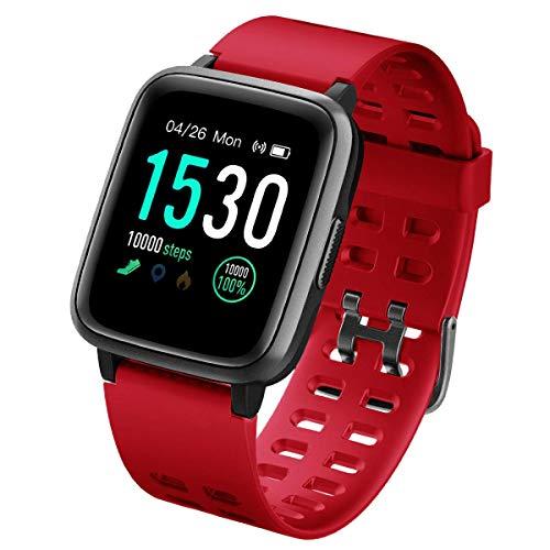 Imagen de naack pulsera actividad, smartwatch, reloj inteligente impermeable ip68 pulsómetro monitor de sueño pulsera deportiva cronómetro contador de calorias para mujer hombre niños compatible ios y android