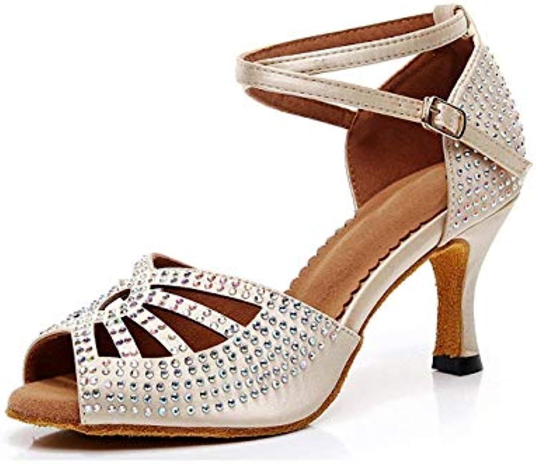 ZHRUI Ladies Sparkle Crystalds Studded Med Heel Scarpe da Ballo Nude Scarpe da Festa per Matrimoni UK 6.5 (Coloreee... | bello  | Uomo/Donna Scarpa