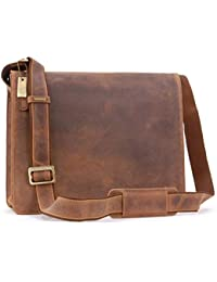 aab4831519 VISCONTI - 18548 Men s Leather Messenger   Shoulder Bag - Laptop Compatible  for Work Bag -