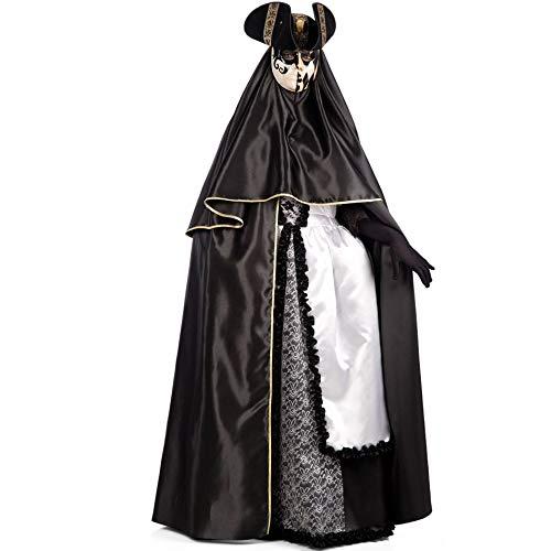 Carnival toys mantello domino veneziano in raso l. cm. 150 ca.