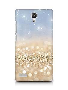 Amez designer printed 3d premium high quality back case cover forXiaomi Redmi Note 4G (gold sparkles)