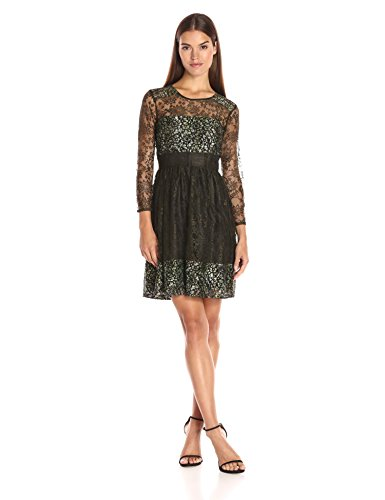 French Connection Molly Lace Ls Rdnk Dress, Vestito Donna marrone (khaki)