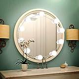LED Spiegelleuchte Hollywood Stil , Lifelf 10 LED Dimmbare Spiegellampe Make Up Spiegel Licht, 538cm Leinenlänge einstellbar 6000K Weiß Licht mit USB-Netzteil, für Spiegel im Badezimmer, Umkleidekabine,Schlafzimmer