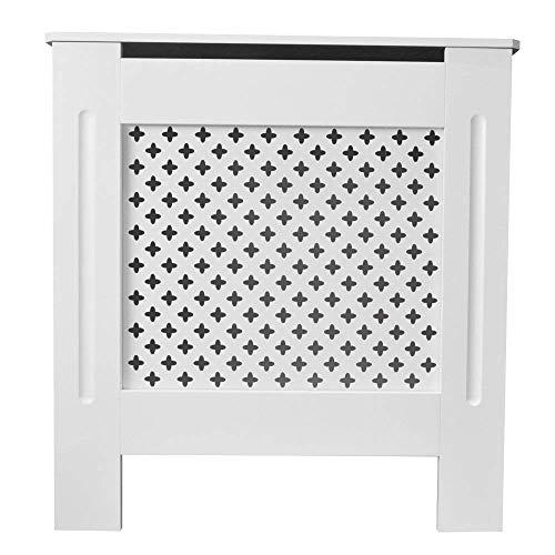 TANBURO Cubierta de Radiador Panel de Color Blanco E1 MDF 78x19x81.5cm