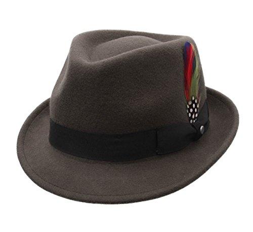 Stetson - Chapeau Trilby imperméable Feutre - 3 Coloris - Homme ou Femme Richmond - Taille L - taupe-53