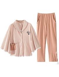 026b85774 DUKUNKUN Pijamas De Algodón Cardigan De Mujer Dulce Lindo Manto De Manga  Murciélago Traje Pijamas Hogar