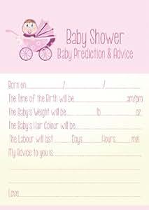 Carte de vœux, conseils et prédiction pour fête prénatale pour fille Rose