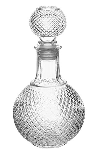 European Crystal Glas Scotch Dekanter mit Stopper Modern 16oz farblos Scotch Dekanter