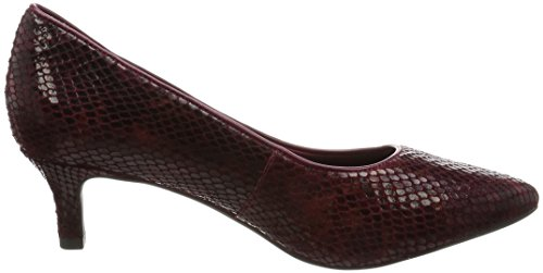 RockportKALILA PUMP - Scarpe con Tacco Donna Rosso (Rot (Cabernet Multi Snake))