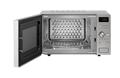 Daewoo KOC9C5T Stainless Steel Retro Microwave Oven, 28 Litre, Silver