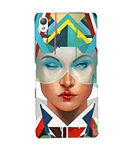 Fuson Amazing Pattern Girl Back Case Cover for SONY XPERIA Z3 - D3903