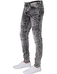 Enzo Mens Designer Stretch Skinny Fit Biker Denim Jeans Pants All Waist  Sizes ae65fce9ea