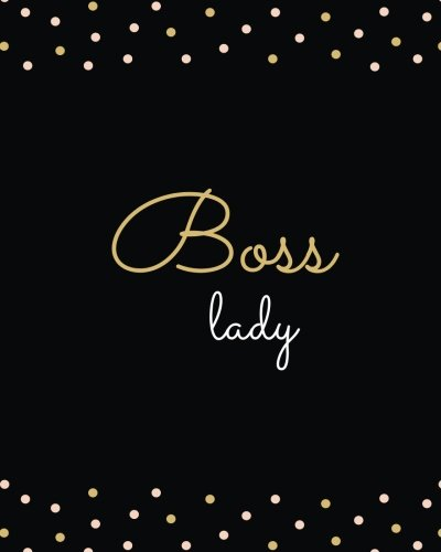 Boss Lady Large Softback Composition Notebook 8x10 Blank