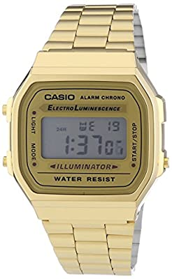 Casio Unisex Quartz Watch with Digital Display and Stainless Steel Bracelet