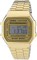 Casio Collection - Unisex-Armbanduhr mit Digital-Display und Edelstahlarmband - A168WG-9EF