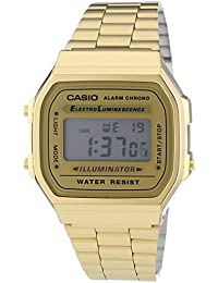 Casio Collection - Unisex-Armbanduhr mit Digital-Display und Edelstahlarmband - A168WG-9EF