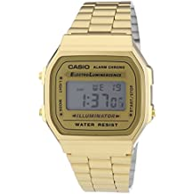 Casio Collection Reloj Digital Unisex con Correa de Acero Inoxidable – A168WG-9EF