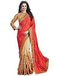 Aarti Apparels Women's Chiffon Designer Sari