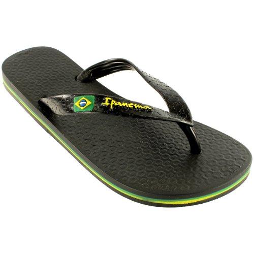 Damen iPanema Brasil II Flip Flop Sommer Urlaub Strand Sandale Schwarz