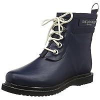 Ilse Jacobsen Damen Gummistiefel | Schuhe aus 100% Natur Bio Gummi | garantiert PVC frei | Kurze Stiefel mit Schnürsenkel aus 100% Baumwolle | RUB2 Blau 38 EU