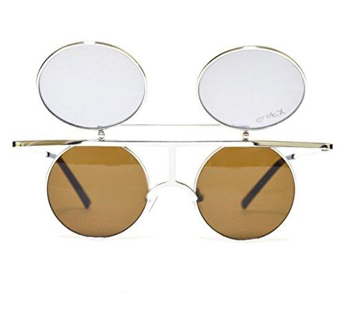 Mann Der Kostüm Spiegel - GloFX Flip Beugungsgläser - Jahrgang runden Prisma Kaleidoskop Rave-Effekt