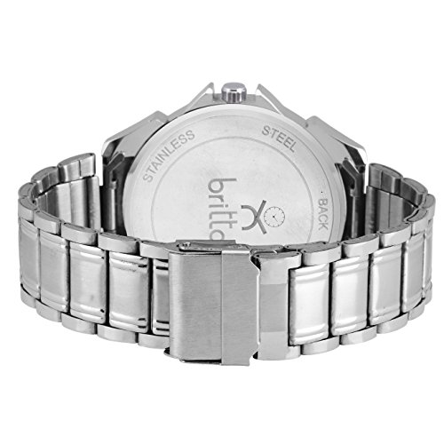 Britton Analogue White Dial Charming Men's Watch-BR-GR192-WHT-CH