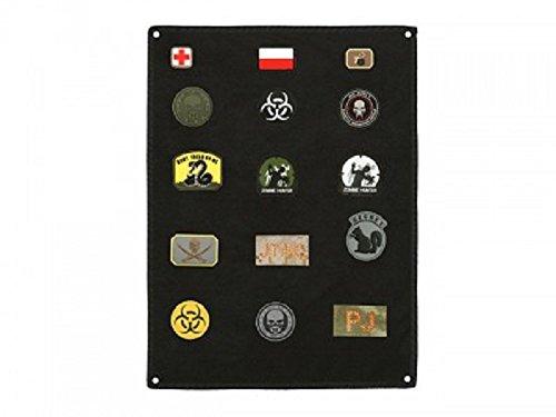 Airsoft Patch Aufhänger - Klettmatte Wand, schwarz