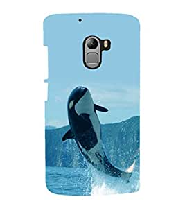printtech Nature Orca Whale Back Case Cover for Lenovo Vibe X3 Lite
