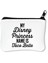5dffd390d My Disney Princess Name Is Taco Belle Billetera con Cremallera Monedero  Caratera
