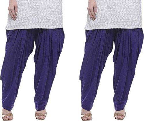 I Shop Traditional Patiala Salwar 100% Cotton Free Size COMBO-02(BLUE_02)