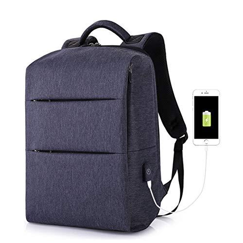 Dwgyq USB-Lade-Reiserucksack, Herrenrucksack Sport- und Freizeitcomputertasche für Männer und Frauen College Student Bag,Blue