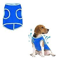 TXIN Blue Pet Cooling Vest Dacron Cool Down Water-Resistant Coat Suitable For All Dog(L)