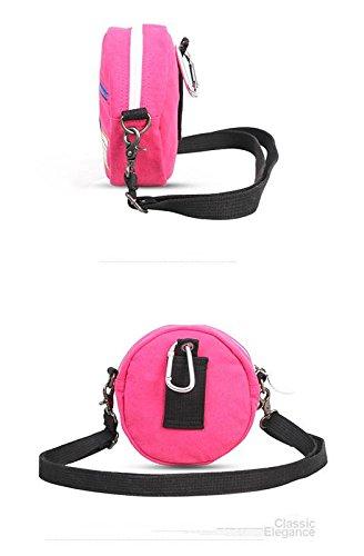 &ZHOU femminile borsa di tela grande capacità di moda borsa a tracolla zaino di svago borsa Messenger , rose red rose red