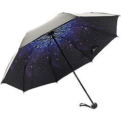 Parapluie Parapluie pliant Parasol Hara Parapluie Mesures de protection contre la pluie Triple cerise Coupe UV Léger 190T haute résistance Huit os Parapluie Léger Léger Léger Parapluie imperméable Imp