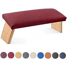"""Meditationsbank """"Dharma"""" inkl. gepolsterte Sitzfläche mit Bezug, klappbar"""