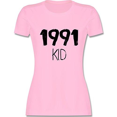 Shirtracer Geburtstag - 1991 Kid - Damen T-Shirt Rundhals Rosa