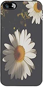 Snoogg White Sunflowers Designer Protective Back Case Cover Forapple Iphone 5...