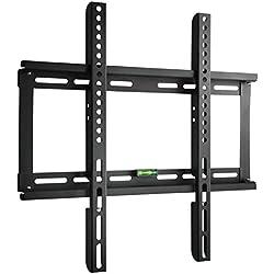 """Paladinz Support TV Mural fixe pour Ecran plat 23"""" - 55"""" (44-140cm) de Télévision LED / LCD / Plasma, VESA 400-400 mm, Charge Maximale 60 kg(77lbs) ,Noir"""