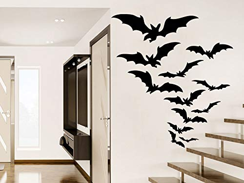 Vinyl Wall Decal Halloween Gruppe Ro Aufkleber Festival Halloween Party Cartoon Moder Möbel ()
