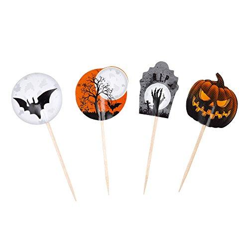 er Halloween Party-Deko bunt 7cm 20 Stück Einheitsgröße (Fingerfood Halloween)