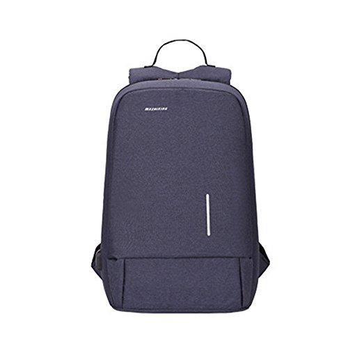 Msliy Damen Herren Rucksack Schultaschen Wasserdicht USB Ladegerät Bookbag Schulrucksäcken bis zu 15.6 Zoll Für Computer Daypacks Business Leicht