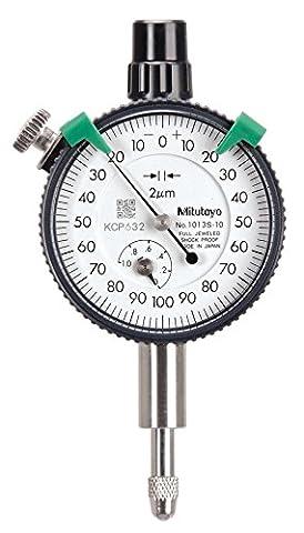 Mitutoyo 1013s-10Series 1Compact Messuhr, metrisch, mit Lug, 1mm/0,2mm Range/Pro Rev, 0–100–0Lesen, 0,002mm Teilung