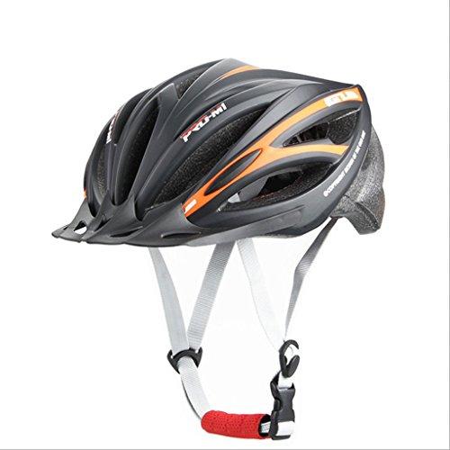 DGF Casque Route VTT Vélo De Protection Cyclisme Cyclisme Intégral En Forme de Chapeau Hommes Et Femmes Équipement Léger Casque De Sécurité Sportif (Couleur : Black orange)