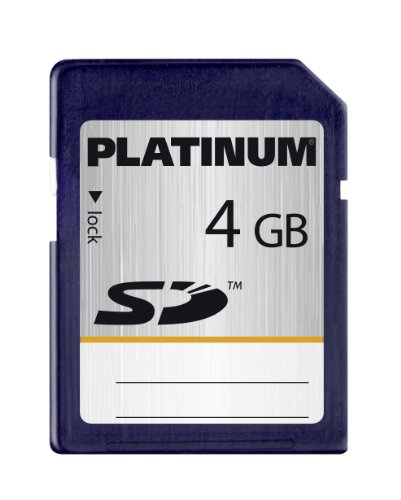 Platinum - Carte Mémoire SD - 4 Go