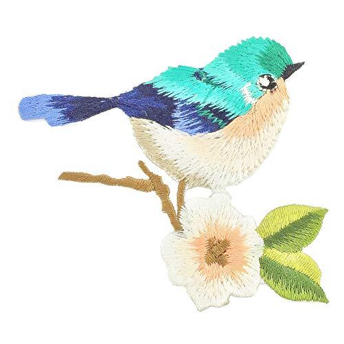 CAOLATOR Vogel Aufnäher Patches zum Aufbügeln Blumen Stoff Aufkleber Tier Sticker Groß DIY Kleidung Applikation Patches Flicken für T-Shirt Jeans Taschen Schuhe Hüte (Stoff Schuhe Blume)