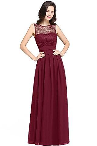 Abendkleider Spitze Rückenfrei Ballkleider Lang Promi-Kleider 38