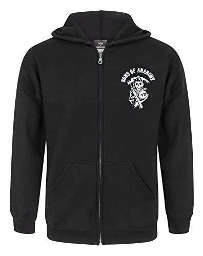 Official Sons Of Anarchy SAMCRO Men's Zip Up Hoodie (XXL) (Sons Of Anarchy Hoodies)
