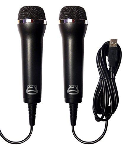 2TA Universal USB Mikrofon 2-Stück zum Einsatz mit gängigen Sing- und Karaoke Spiele auf der Wii, WiiU, PS3, PS4 und PC