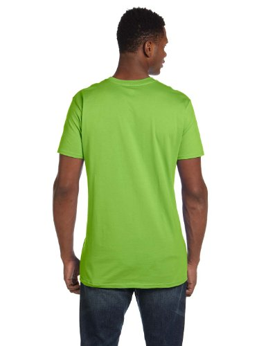 Hanes Mens Nano-T Cotton T-Shirt Lime
