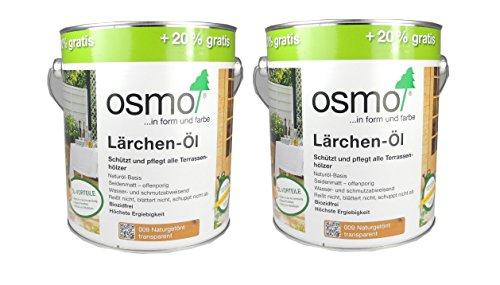 Preisvergleich Produktbild Osmo Spar-Set 2x: Lärchen-Öl 009 naturgetönt 3 L Aktionsgebinde